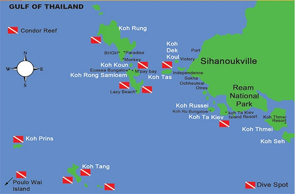 koh rong map